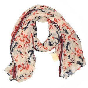Francesca's Red, White & Blue Anchor Scarf